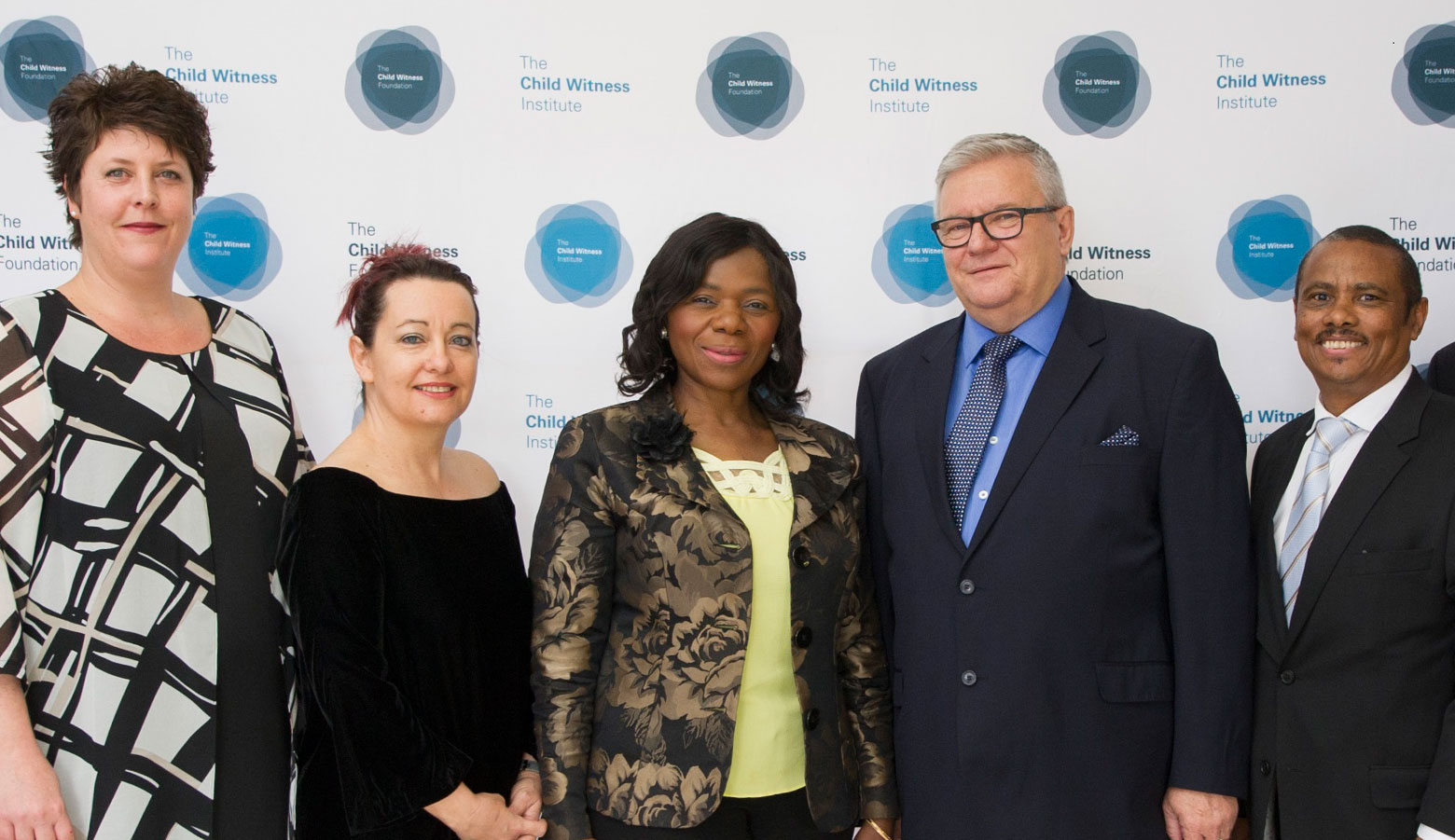 Karen Hollely – COO Child Witness Institute, Dr Karen Müller – CEO Child Witness Institute, Adv Thuli Madonsela, Danie Kok – Development Head for Child Witness Foundation, Tim Scholtz – COO Child Witness Foundation